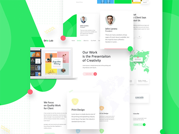 jquery landing page templates - awesome agency landing page psd template free download